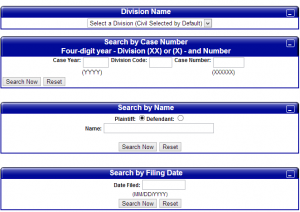 Cook County Online Case Database